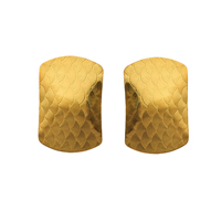 Gets® Jewelry Earring, Brass, Rectangle, 18K gold plated, textured, nickel, lead & cadmium free, 17x25mm, Sold By Pair