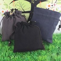 Linen Jewelry Pouches, with Cotton, mixed colors, 130x150mm, Sold By PC