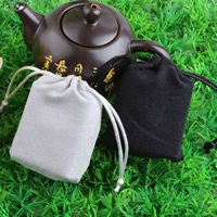 Suede Drawstring Pouches, with Nylon Cord, mixed colors, 70x90mm, Sold By PC