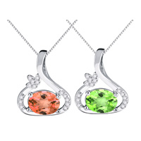 Austrian Crystal Pendant, 925 Sterling Silver, with Austrian Crystal, Teardrop, natural, with cubic zirconia, more colors for choice, 12x14mm, Hole:Approx 3x6mm, Sold By PC