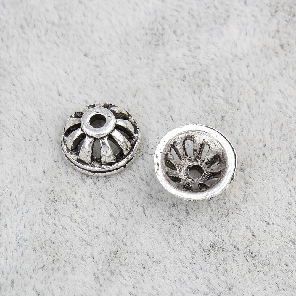 Zinc alloy bead caps round antique silver color plated