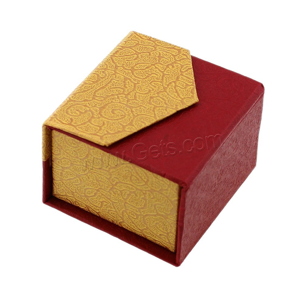 cardboard single ring box with sponge cube 52x50mm