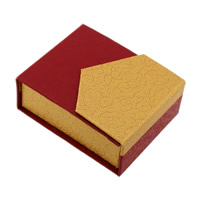 Cardboard Pendant Box, with Sponge, Rectangle, 68x82x30mm, Sold By PC