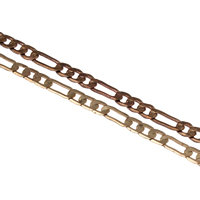 Brass Figaro Chain, plated, different size for choice, more colors for choice, nickel, lead & cadmium free, Sold By m