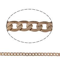 Brass Curb Chain, plated, different size for choice, more colors for choice, nickel, lead & cadmium free, Sold By m