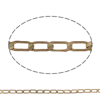 Brass Curb Chain, plated, more colors for choice, nickel, lead & cadmium free, 11x5x0.3mm, Sold By m
