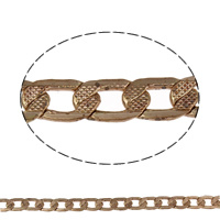 Brass Curb Chain, plated, more colors for choice, nickel, lead & cadmium free, 9x5x1mm, Sold By m