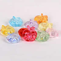 Acrylic Shank Button, Apple, transparent, mixed colors, 26mm, Sold By PC