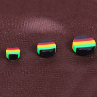 Acrylic Magnetic Stud Earring, with Magnetic Hematite, different size for choice, multi-colored, 12Pairs/Bag, Sold By Bag