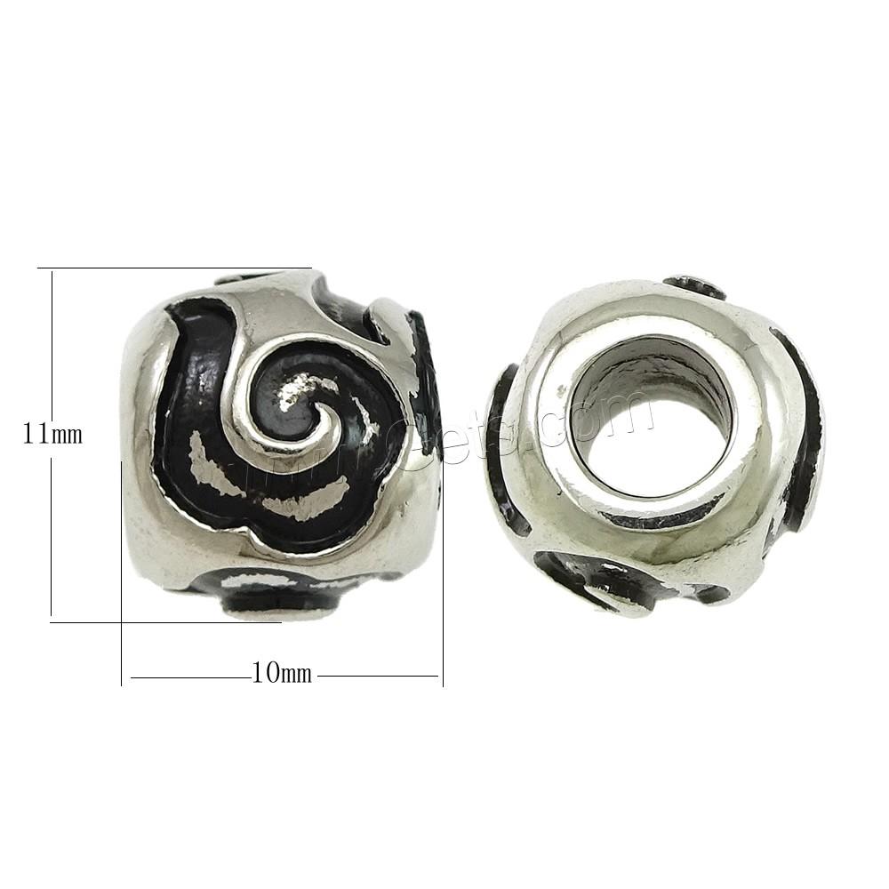 edelstahl european perlen trommel ohne troll schw rzen 11x10mm bohrung ca 5mm verkauft. Black Bedroom Furniture Sets. Home Design Ideas