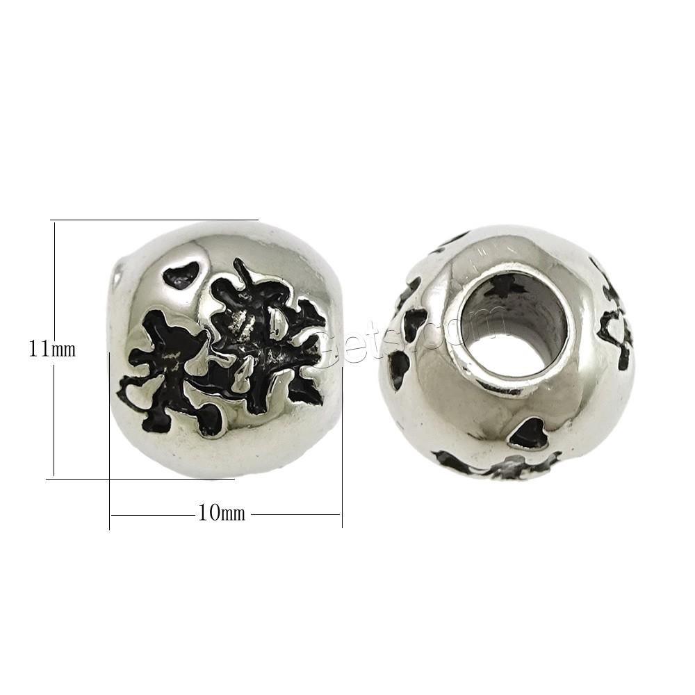 edelstahl european perlen trommel ohne troll schw rzen 11x10mm bohrung ca 4mm verkauft. Black Bedroom Furniture Sets. Home Design Ideas