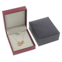 Silk Necklace Box, with Cardboard & Velveteen, Rectangle, 66x78x30mm, Sold By PC