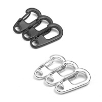 Zinc Alloy Key Clasp, plated, mixed colors, 26x28mm, Sold By PC