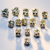 Magnetic Earring, Zinc Alloy, platinum color plated, different styles for choice & faceted, 8x8mm, Sold By Pair