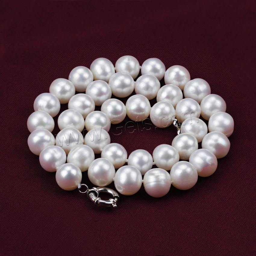 natural freshwater pearl necklace brass spring ring clasp. Black Bedroom Furniture Sets. Home Design Ideas