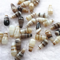 Natural Lace Agate Beads, Teardrop, half-drilled, 7x15mm, Hole:Approx 1mm, Sold By PC