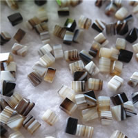 Natural Lace Agate Beads, Rectangle, 4x6mm, Hole:Approx 1mm, Sold By PC
