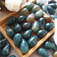 Indian Agate Pendants, Teardrop, natural, 10x16mm, Hole:Approx 1mm, Sold By PC