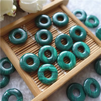 Malachite Pendants, Donut, natural, 15mm, Hole:Approx 5mm, Sold By PC