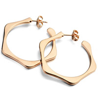 Zinc Alloy Stud Earring, stainless steel post pin, rose gold color plated, nickel, lead & cadmium free, 35mm, Sold By Pair