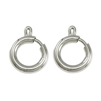 Stainless Steel Spring Ring Clasp, 316L Stainless Steel, original color, 10x12x2mm, Hole:Approx 6mm, Sold By PC