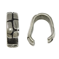 Stainless Steel Snap on Bail, 316L Stainless Steel, blacken, 4.5x13x1mm, Sold By PC