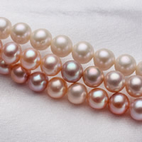 Potato Cultured Freshwater Pearl Beads, natural, mixed colors, 6.5-7mm, Hole:Approx 0.8mm, Length:Approx 15-15.5 Inch, Sold By Strand