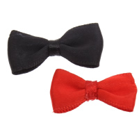 Ribbon Bow, Satin Ribbon, Bowknot, more colors for choice, 30x16x5mm, Sold By PC