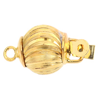 Zinc Alloy Box Clasp, gold color plated, flower cut & single-strand, lead & cadmium free, 18x10mm, Hole:Approx 1.5mm, Sold By PC