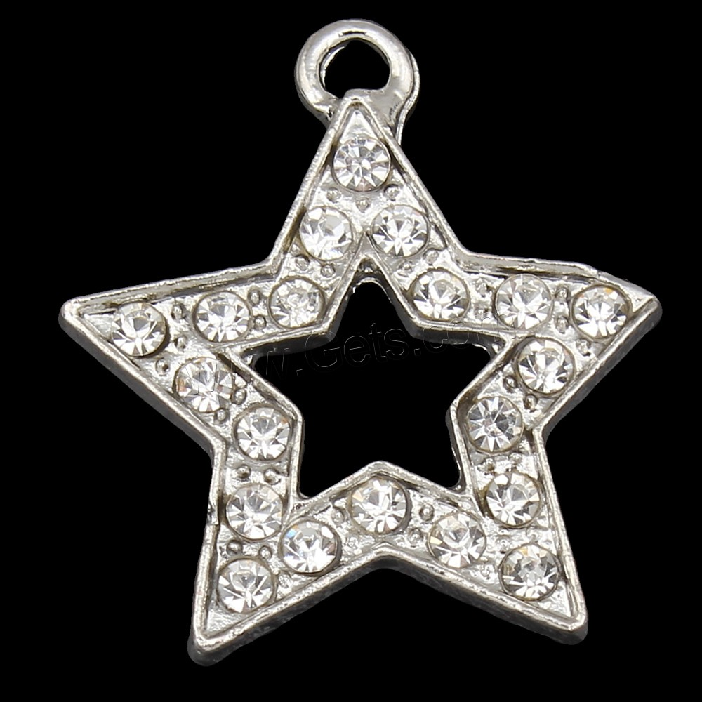 Zinc alloy star pendant silver color plated with