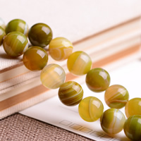 Natural Lace Agate Beads, Round, different size for choice, olive green, Grade AAAAAA, Hole:Approx 1mm, Length:Approx 15.5 Inch, Sold By Strand