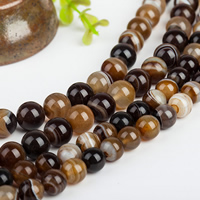 Natural Lace Agate Beads, Round, different size for choice, coffee color, Grade AAAAA, Hole:Approx 1mm, Length:Approx 15.5 Inch, Sold By Strand