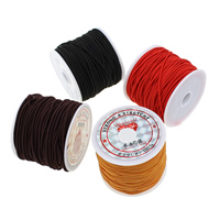 Elastic Thread, Nylon, with plastic spool, more colors for choice, 0.8mm, 25Spools/Bag, 26m/Spool, Sold By Bag
