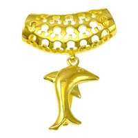 Zinc Alloy Pinch Bail, Dolphin, gold color plated, 17x25x8mm, 30x17.5x7.5mm, 1mm, Hole:Approx 7.5x6mm, Sold By PC