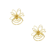 Hair Spinners, Zinc Alloy, Flower, gold color plated, hollow, 20mm, Sold By PC