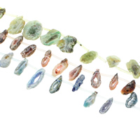 Druzy Beads, Ice Quartz Agate, natural, druzy style, more colors for choice, 11x25x6mm-18x45x5mm, Hole:Approx 1.5-2mm, Length:Approx 15.5 Inch, 19PCs/Strand, Sold By Strand