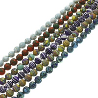 Mosaic Turquoise Beads, Round, synthetic, different size for choice, more colors for choice, Hole:Approx 1-1.5mm, Length:Approx 15.5 Inch, Sold By Strand