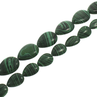 Synthetic Malachite Beads, Teardrop, different size for choice, Hole:Approx 1mm, Length:Approx 15.5 Inch, Sold By Strand