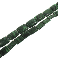 Synthetic Malachite Beads, Rectangle, different size for choice, Hole:Approx 1mm, Length:Approx 15.5 Inch, Sold By Strand