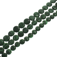 Synthetic Malachite Beads, Flat Round, different size for choice, Hole:Approx 1mm, Length:Approx 15.5 Inch, Sold By Strand