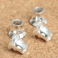 Sterling Silver Grommet, 925 Sterling Silver, 7x8mm, Hole:Approx 3mm, Sold By PC