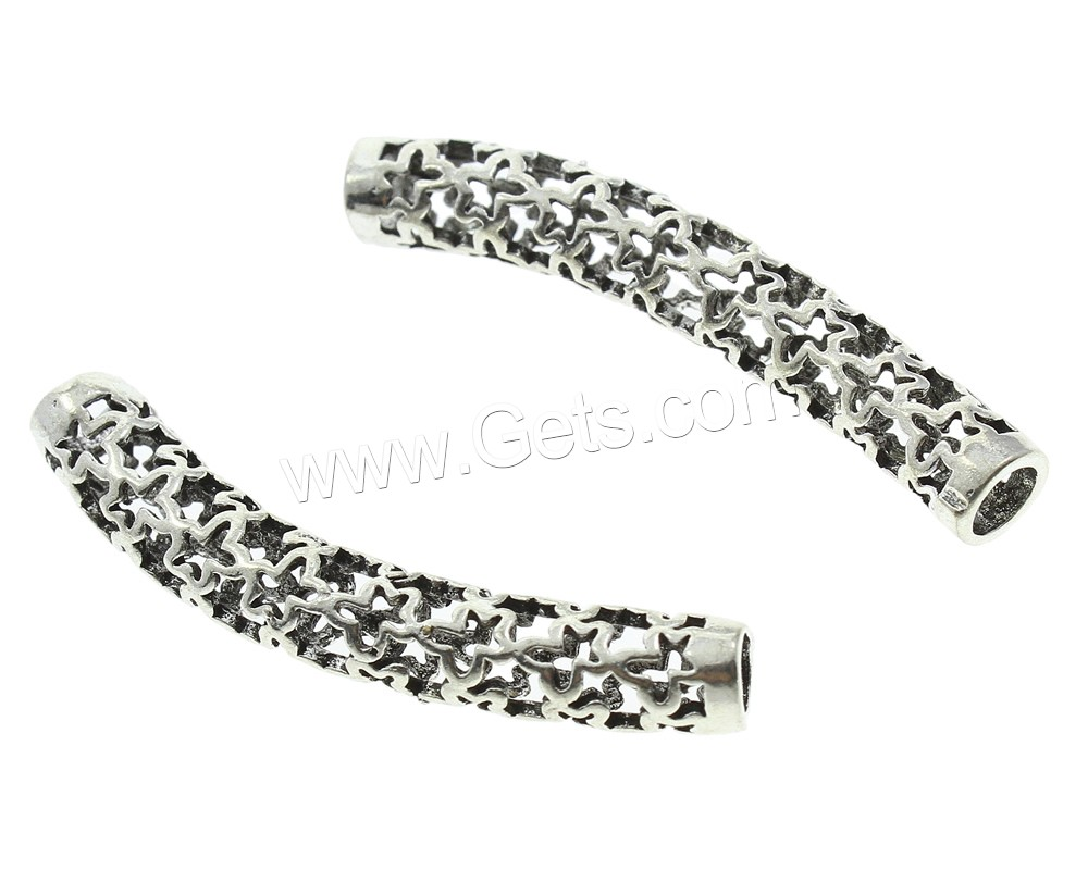 Thailand sterling silver tube beads curved hollow