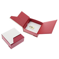 Cardboard Pendant Box, Square, red, 73x76x33mm, Sold By PC