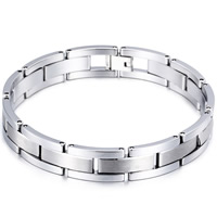 Tungsten Steel Bracelet, for man, original color, 12mm, Length:Approx 8.8 Inch, Sold By Strand