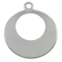 Stainless Steel Pendants, Donut, original color, 16x18x1mm, Hole:Approx 1mm, Sold By PC
