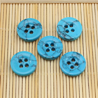 4 Hole Turquoise Button, Synthetic Turquoise, different size for choice, more colors for choice, Sold By PC