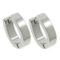 Stainless Steel Huggie Hoop Earring, original color, 4x15x13mm, Sold By Pair