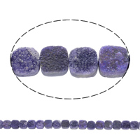 Druzy Beads, Ice Quartz Agate, Square, natural, druzy style, purple, 10x5mm, Hole:Approx 1mm, Length:Approx 8 Inch, Approx 20PCs/Strand, Sold By Strand