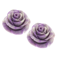 Synthetic Coral Beads, Flower, purple, 41x41x28mm, Hole:Approx 1mm, Sold By PC