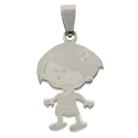 Stainless Steel Pendants, Girl, original color, 19x31x1.5mm, Hole:Approx 4x7mm, Sold By PC